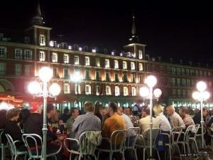Attractions of Madrid. Plaza Mayor in Madrid.