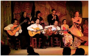 Flamenco show in Madrid. Café de Chinitas.