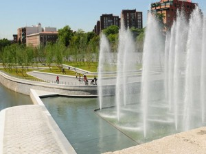 Locations of interest in Madrid. Madrid Rio Park