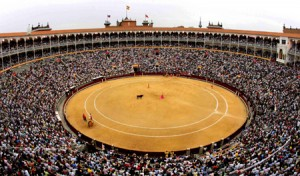 To see a bullfight in Madrid. Madrid's bullring.