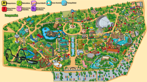 Locations of Interest. Theme Park in Madrid. Parque de Atracciones Madrid
